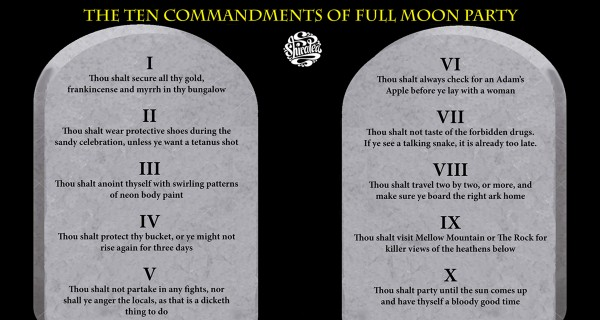 The Ten Commandments of the Full Moon Party